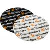 Outdoor stickers (voor toepassingen buiten) zijn verkrijgbaar als witte of transparante PVC-folie (rond, ovaal of hoekig)