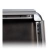 Eenvoudig wisselen van de layout: het 32 mm brede profiel van de kliklijst kan heel eenvoudig worden opgeklapt.