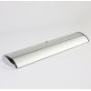 Stabiele aluminium cassette in chroomlook, zware uitvoering, daarom zijn er geen extra uitklapvoeten nodig (afb. soortgelijk)