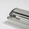 Rollup banner en tentstok kunnen eenvoudig in de aluminium cassette worden opgeborgen (afb. soortgelijk)