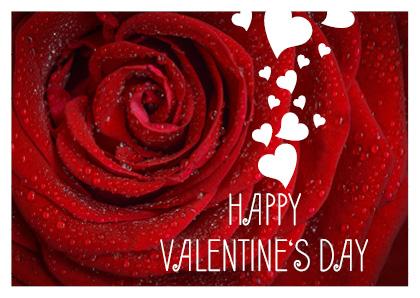 Valentinstagsvorlage für Postkarte 02
