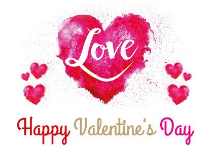 Valentinstagsvorlage für Postkarte 03
