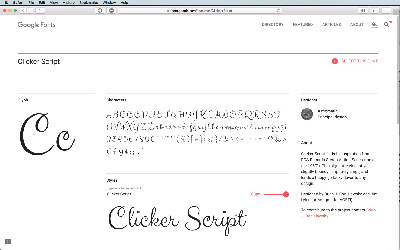 Script Font Clicker Script